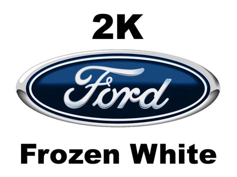 ford 7 frozen white 2k solid 2 pack car paint prices from