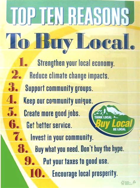 7 Reasons To Buy Local by Buy Local Our Green Directory Find Green Products