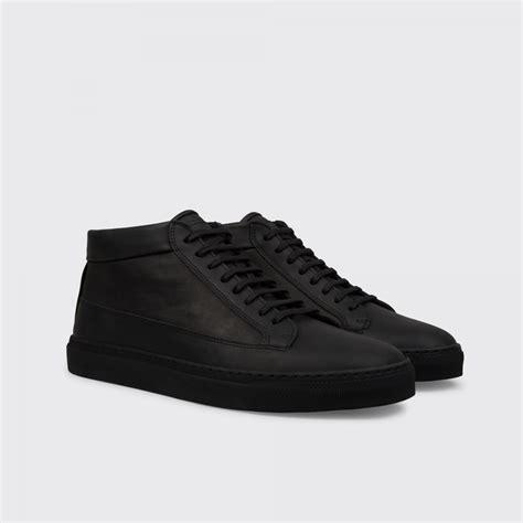 all black sneaker etq mid top all black sneakers hispotion
