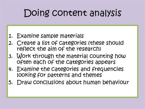 pattern analysis in psychology content analysis