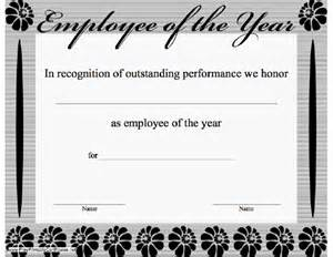 Employee Of The Year Certificate Template Free Employee Of The Year Certificate Submited Images