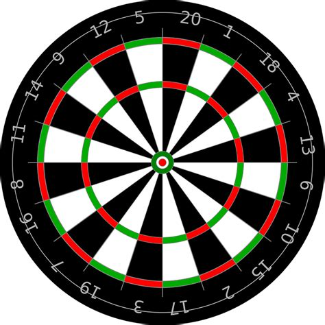 pattern dartboard numbers free vector graphic freccete center darts target