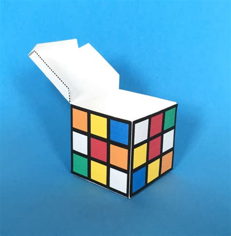 How To Make A Paper Rubik S Cube - rubik s cube paper craft printable
