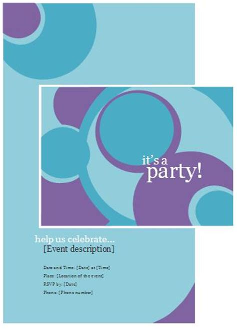 microsoft office template party invitation