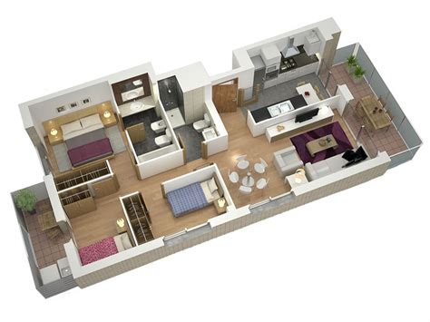casa 3d planos de casas en 3d para venta inmobiliaria estudibasic