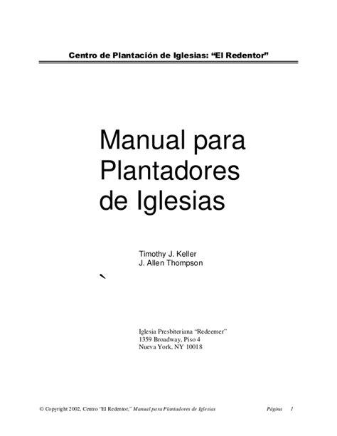 plantadores de iglesias manual del plantador de iglesias