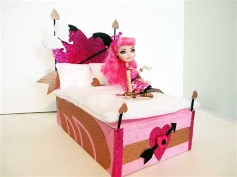 how to make monster high beds how to make a c a cupid doll bed tutorial monster high ever after high makeup guides