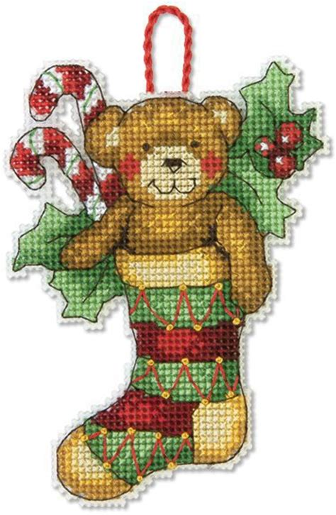 dimensions bear christmas ornament cross stitch kit 70