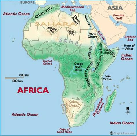 geographic map of africa maps of america