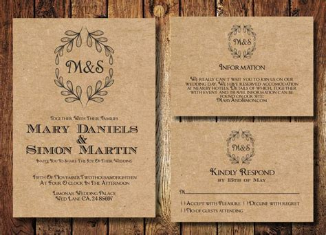 Rustic Wedding Invite Template free rustic wedding invitation templates wedding
