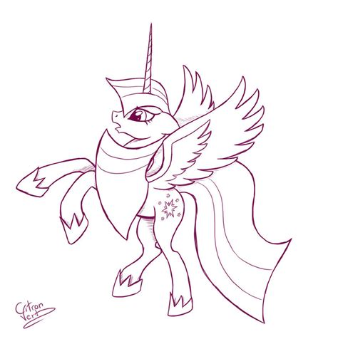 how to draw an alicorn princess from my little pony twilight sparkle alicorn by citron vert on deviantart