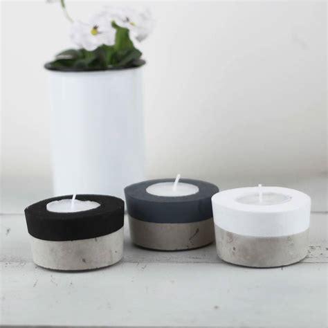 Concrete Tea Light Holders By Bells And Whistles Make Tea Light Holder