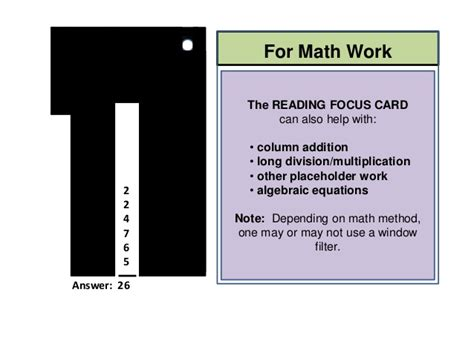 reading focus card template reading focus cards solutions for struggling readers 2014