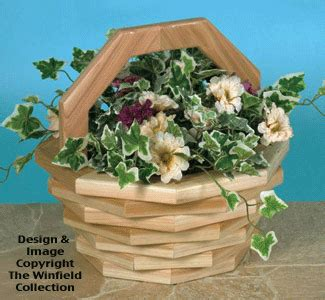 planter woodworking plans patio baskets wood pattern