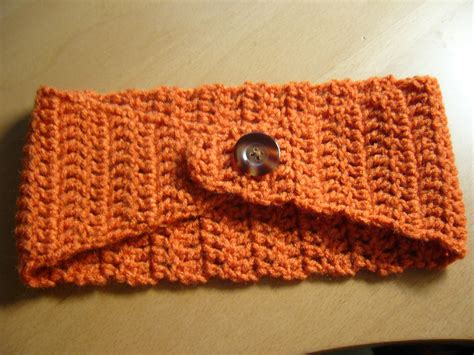 knitted headbands pattern with button crochet ear warmer headband with button pattern crochet