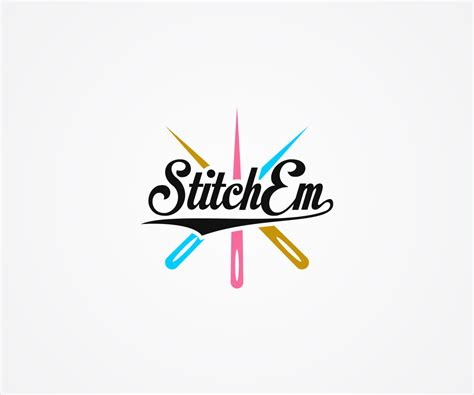 embroidery pattern logo 94 colorful playful embroidery logo designs for stitch em