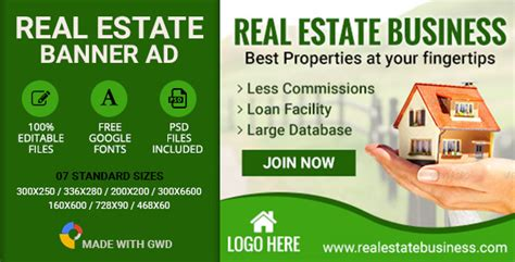 Nulled Gwd Real Estate Banners 7 Sizes Item Nulled 14222086 Codecanyon Free Download Real Estate Banners Template
