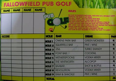 barcrawl card template pub golf an alternative bar crawl college news