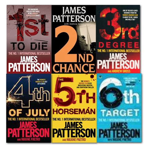 james patterson books james patterson women s murder club series collection 6