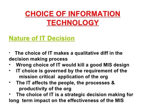 Is An Mba In Information Systems Worth It by Mba Managment Information System Module 7 Ppt
