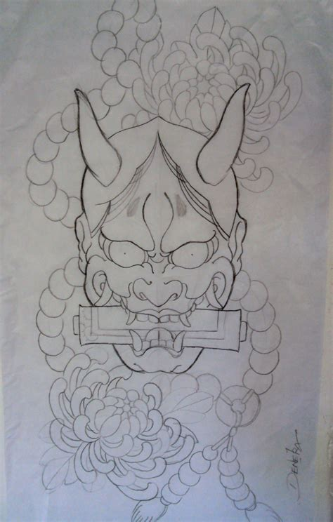 japanese devil tattoo traditional japanese mask sleeve tattoos