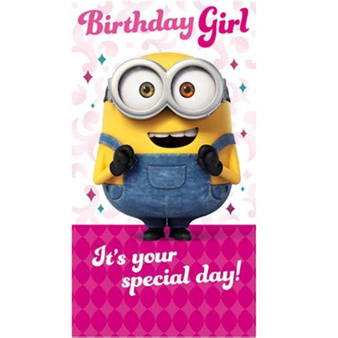 printable birthday cards minions birthday girl minions birthday card minion shop
