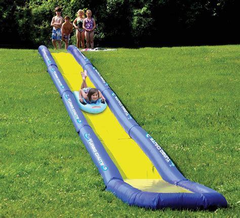 backyard water slides for kids the world s longest backyard water slide internet vs