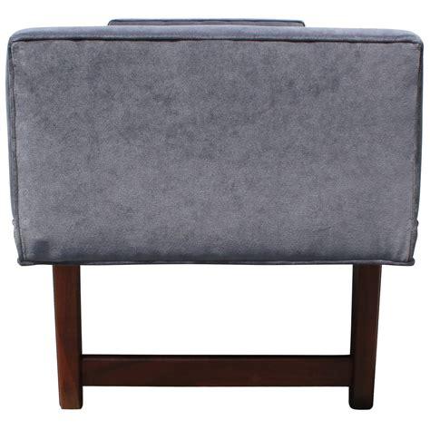 grey velvet bench ultra luxe grey velvet dunbar style bench at 1stdibs