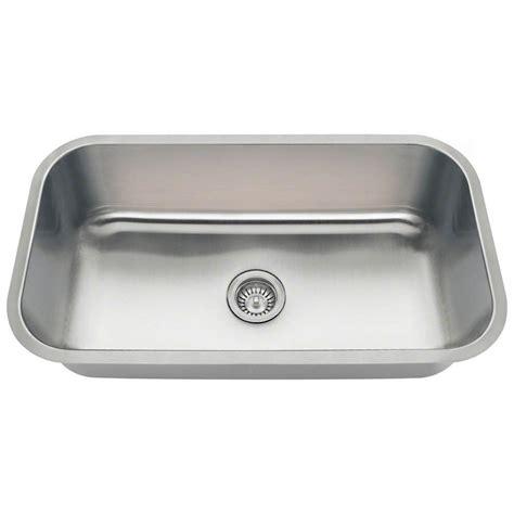 32 Kitchen Sink Polaris Sinks Undermount Stainless Steel 32 In Single Basin Kitchen Sink Pc8123 The Home Depot
