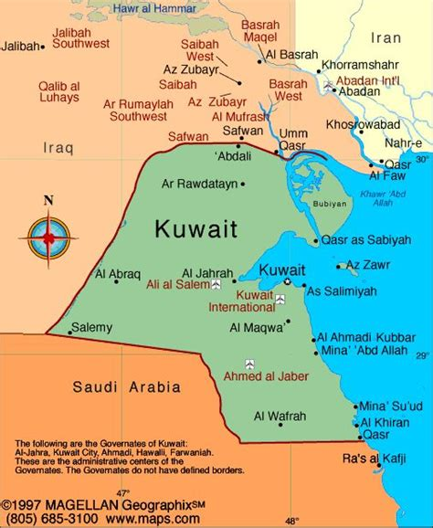 middle east map kuwait kuwait atlas maps and resources infoplease