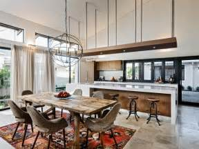 kitchen dining lighting ideas 15 open concept kitchens and living spaces with flow hgtv