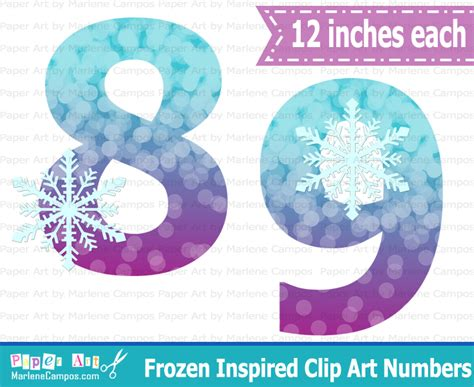 Home Design Elements Reviews frozen inspired purple amp blue numbers clip art