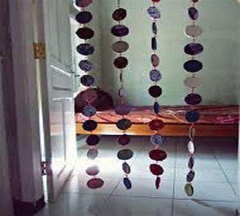 membuat kerajinan gorden membuat tirai atau gorden dari kain perca atau baju bekas