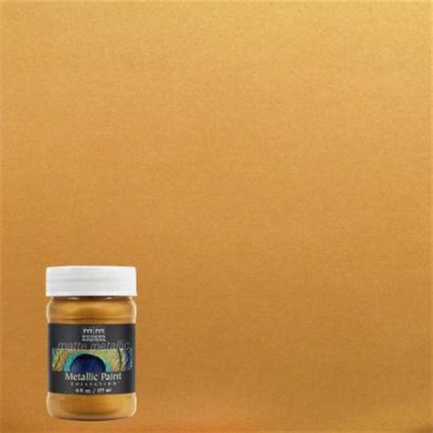 modern masters 6 oz olympic gold matte metallic interior paint mm65906 the home depot