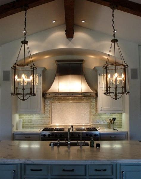 Lantern Lights Kitchen Island by Tabulous Design Lantern Light Fixtures
