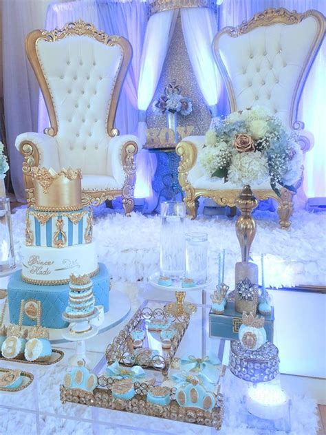 royal blue and gold baby shower chair crown prince baby shower baby shower ideas themes