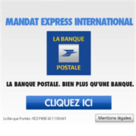 Banc Postal Fr by Le Mandat Express International De La Banque Postale