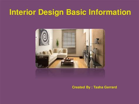 interior design basic tasha gerrard interior design basic information