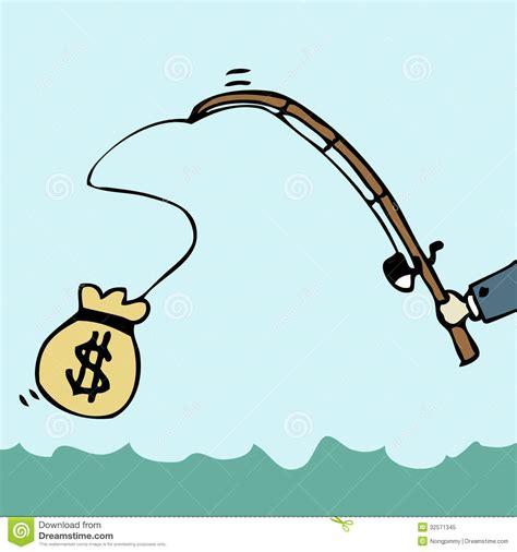 Fish For Money Gift Card - fishing money royalty free stock photo image 32571345
