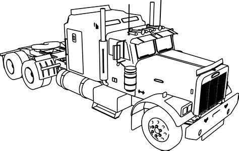 Semi Coloring Pages by Truck Coloring Pages Semi Grig3 Org