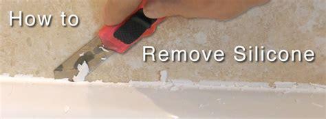 remove silicone sealant   bath  shower