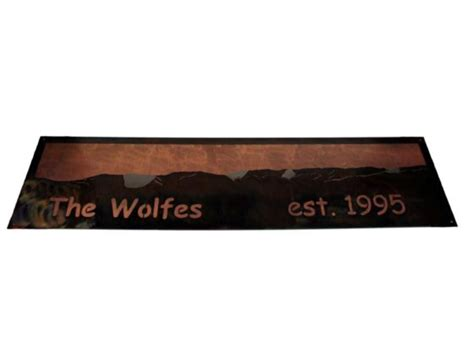 smw376 custom metal address home sign piney rock