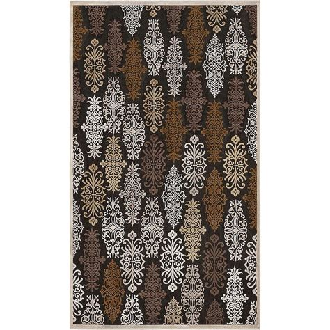 viscose and chenille rugs artistic weavers cynthia chocolate viscose and chenille 7 ft 6 in x 10 ft 6 in area rug
