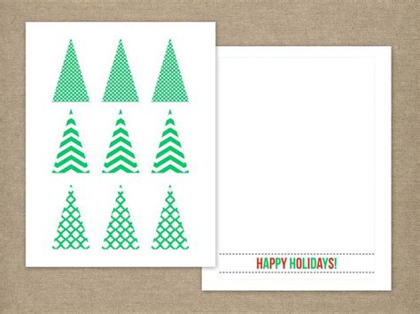 Tree Photo Card Templates by Handmade Tree Card Easy Crafts And