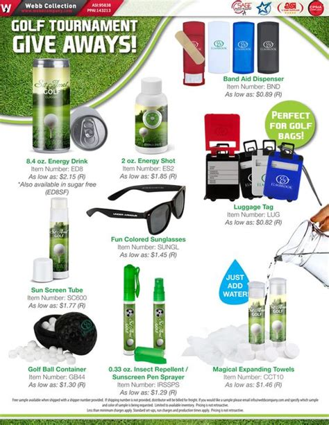 Golf Tournament Giveaway Ideas - golf tournament giveaway promotional product flyers pinterest golf