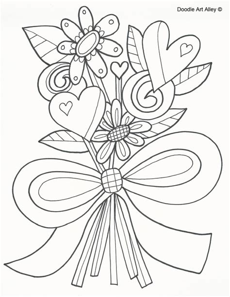 Flower Doodle Coloring Pages Free Coloring Pages Of