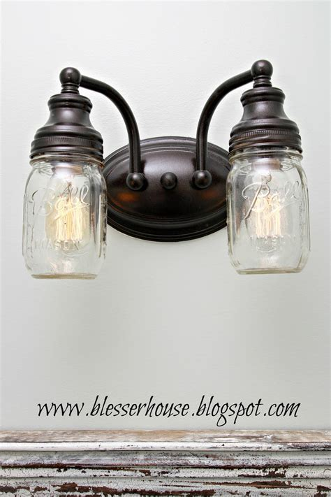 mason jar bathroom light diy mason jar vanity light bless er house