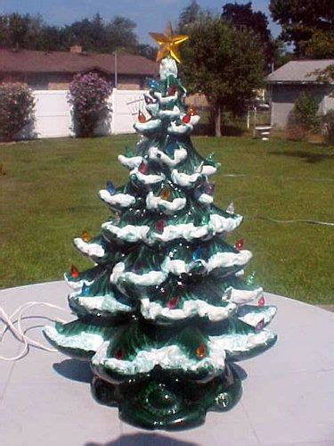 vintage atlantic mold lighted ceramic tree 21 quot flocked fondly remembered 2