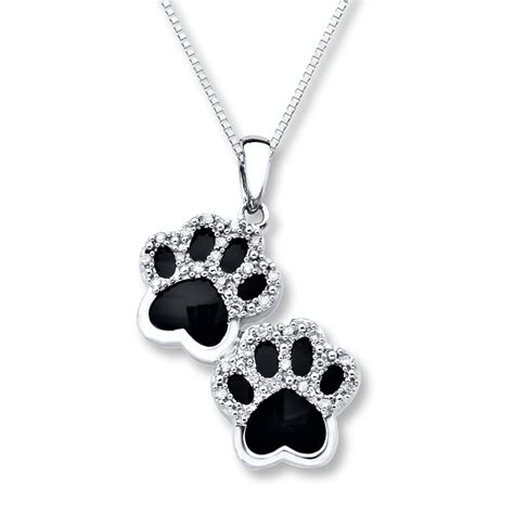 paw necklace paw print locket images