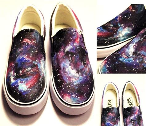 Painted Canvas Slip Ons galaxy shoes painted galaxy shoes slip on painted